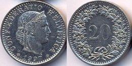 Switzerland Swiss 20 Rappen 1997 XF+ - Suisse