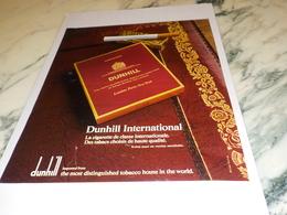 ANCIENNE PUBLICITE CIGARETTE  DUNHILL 1972 - Tabac (objets Liés)