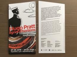 Locandina Presentazione Esposizione Mostra Hugo Pratt Lione 07-04-2018 - 24-03-2019 - Fumetti