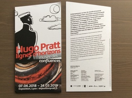 Locandina Presentazione Esposizione Mostra Hugo Pratt Lione 07-04-2018 - 24-03-2019 - Cómics