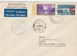 Suisse Lettre Aviation 1938 - Poststempel