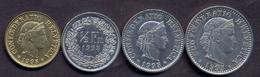 Switzerland Swiss 5 10 20 50 Rappen 1995 VF / XF (Set 4 Coins) - Suisse