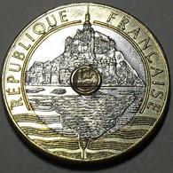 1992 - France - 20 FRANCS, Mont Saint Michel, V Fermé, Closed V, KM 1008.2, Gad 871 - Commémoratives
