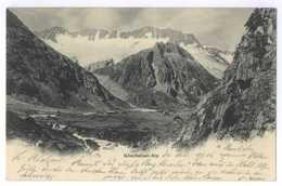 Göschenen-Alp Göschenen Schweiz Weltpostverein Stempel Hotel Dammagletscher 1916 - UR Uri
