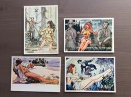 Serie Di 4 Cartoline Di Milo Manara Mostra 29/01 Al 6/03 1994 Milano - Cómics