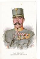 1. WK. Fmit. TROLLMANN, Der Eroberer Des LOWCEN, Rotes Kreuz Karte Nr. 608 - Personnages