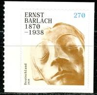 BRD - Mi 3521 Gestanzt Aus MH 117 - ** Postfrisch (K) - 270C         Ernst Barlach - Ausgabe 02.01.2020 - [7] Federal Republic