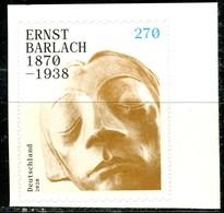 BRD - Mi 3520 Gestanzt Aus MH 117 - ** Postfrisch (M) - 270C         Ernst Barlach - Ausgabe 02.01.2020 - BRD