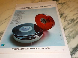 ANCIENNE PUBLICITE UNIVERS MISICAL ET SONORE  PHILIPS 1972 - Autres