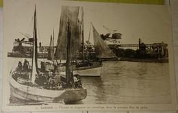 56 Morbihan  CPA Lorient Bateaux De Pêche  Thonier Et Dragueur Au Mouillage Dans Le Nouveu Port De Pêche - Lorient