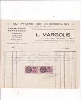 """50-L.Margolis.."""" Au Phare De Cherbourg """"..Chemiserie, Bonneterie..Cherbourg..(Manche) - Agriculture"""