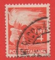 1945-48 (12) Democratica Lire 4 Pos Filigrana ND Carta Grigia - Variedades Y Curiosidades