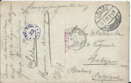 Umgebug Soltau Kriegsgefangenensendung Van Soltau Naar Tubize (envoi De Prisonnier) 1917 Foto AK Route Vers Soltau Ville - Guerre 14-18