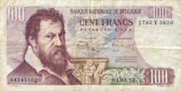 Belgium 100 Francs, P-134b (1.3.1972) - Fine - Sign. 2+8 - [ 2] 1831-...: Belg. Königreich