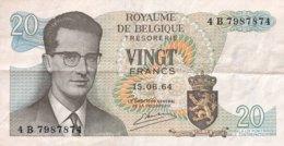 Belgium 20 Francs, P-138 (15.6.1964) - EF/XF - Sign. 20 - [ 2] 1831-...: Belg. Königreich