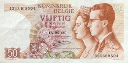 Belgium 50 Francs, P-139 (16.5.1966) - Very Fine - Sign. 20 - [ 2] 1831-...: Belg. Königreich