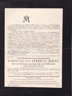 JEHAY-BODEGNEE GAND UYTBERGEN Burgemeester Victor De STEEN De JEHAY Veuf De LICHTERVELDE 1822-1912 - Décès