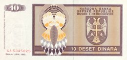 Bosnia 10 Dinara, P-133 (1992) - UNC - Bosnien-Herzegowina