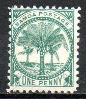 OCEANIE - SAMOA - (Poste Locale) - 1887-99 - N° 10 - 1 P. Vert - (Palmiers) - Samoa