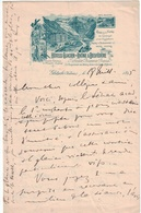 Hôtel Du Glacier Du Rhône & Belvédère - Papier Lettre Pour Correspondance 1895 ( ~27 X 21 Cm ) - Gletsch - Furka -Valais - Advertising