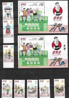 HONG KONG, 2019, MNH,MASTER Q, CARTOONS, COMICS, 8v+ 2 S/SHEETS - Comics
