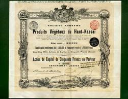 T-CBE Produits Vegetaux Du Haut-Kassai 1898 Congo Belgique N.20534 - Landbouw