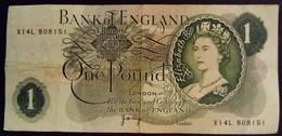 Grande Bretagne Great Britain Angleterre England 1970 Une Livre One Pound - 1952-… : Elizabeth II