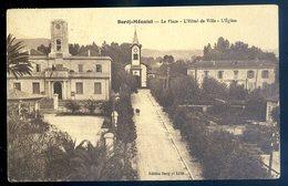 Cpa D' Algérie  Bordj - Ménaiel  La Place Hôtel De Ville L' église     DEC19-26 - Algeria
