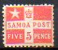 OCEANIE - SAMOA - (Poste Locale) - 1894 - N° 21 - 5 P. Rouge - Samoa