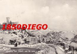 ARQUATA DEL TRONTO CON LA NEVE  F/GRANDE VIAGGIATA 1955 - Ascoli Piceno