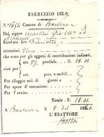 CONTE DE NICE .BONSON .CONTRIBUTIONS INDIRECTES 1840 .MARTINI GIO MARIA - Documents Historiques