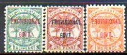 OCEANIE - SAMOA - (Poste Locale) - 1899 - N° 28 à 30 - (Palmiers) - (PROVISIONAL GOVT.) - Samoa