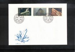 Liechtenstein 1989 Minerals FDC - Mineralien