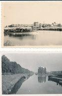 67 STRASBOURG PORT DU RHIN  QUATRE PHOTOGRAPHIES ORIGINALES  6 Cm X 9 Cm 1950 51 - Places