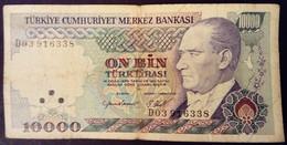 Turquie Turkey Turkiye 1970 10000 Livres Turques Turkish Pounds On Bin Turk Lirasi - Turkije