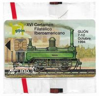 Spain - Telefónica - Trains - XVI Certamen Fil. Ibero - P-090 - 09.1994, 4.100ex, NSB - España