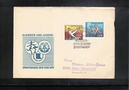 Germany / Deutschland DDR 1970 Youth Spartakiade FDC - Gymnastik