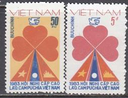 Vietnam 1983 - Conference Des Trois Etats: Kampuchea, Laos Et Vietnam, Mi-Nr. 1306/07, MNH** - Vietnam