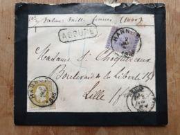 Lettre ASSURÉ 1000 Fr HANNUT 02/01/1885 Lille Nord - Belgium