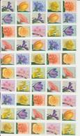 Rouleaux De Fleurs Complet Avec Numéro Sur Les 10 Timbres Différents MNH ** Superbe RRR 10 Bandes - Coil Stamps