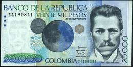 COLOMBIA - 20.000 Pesos 23.08.2012 {Banco De La República} UNC P.454 X - Colombie