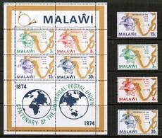MALAWI  Scott # 221-4a** VF MINT NH INCLUDING Souvenir Sheet (SS-513) - Malawi (1964-...)
