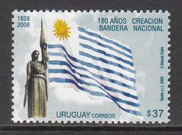 2008 Uruguay Flags Complete Set Of 1   MNH - Uruguay