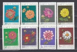 Vietnam 1982 - Flowers: Dahlias, Mi-Nr. 1240/47, Perf., MNH** - Vietnam