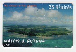 WALLIS Et FUTUNA REF WF-16 VUE AERIENNE DE WALLIS 25U  Année 1999 Tirage 3000 Ex - Wallis Und Futuna