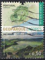 Portugal 2017 Oblitéré Used Açores Géoparque Île De São Miguel Caldeira Do Vulcão Das Furnas Volcan SU - Azores