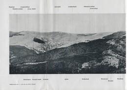LINTHAL - LAUTENBACH - Dépliant Guerre 1914-18 - Vue Panoramique Vers La Chaîne Du Petit Ballon - Guebwiller