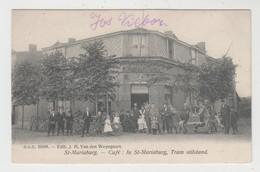 Sint-Mariaburg  Brasschaat Antwerpen  Café In St-Mariaburg Tram Stilstand   D.V.D. 11288 Edit J. H. Van Den Weyngaert - Brasschaat