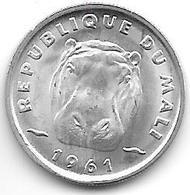 *mali 5 Francs 1961  Km 2 Bu/ms65 - Mali (1962-1984)