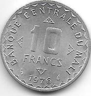 *mali 10 Francs 1976  Km 11  Bu/ms65 - Mali (1962-1984)